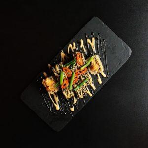 Hot Chiken Tempura 2 Sushi Roly Kioto Festival Sushi Belaja Cerkov